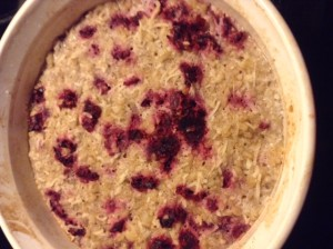 Coconut Cranberry Rice Pudding